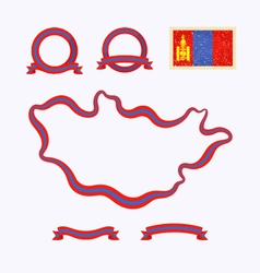 Colors of mongolia vector