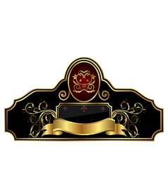 decorative gold frame label vector image