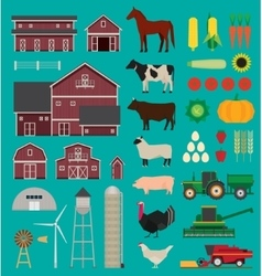 Farm infographic set vector