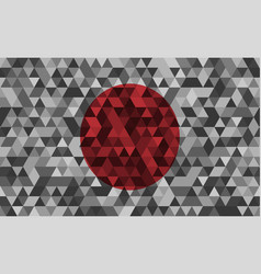flag of japan celled stylization japanese vector image vector image