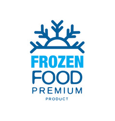 Frozen food premium product label for freezing vector