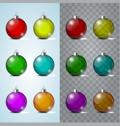 glass christmas toy on a transparent background vector image