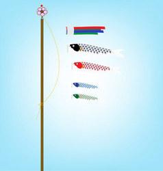 Koi Flag flying in Children day vector image vector image