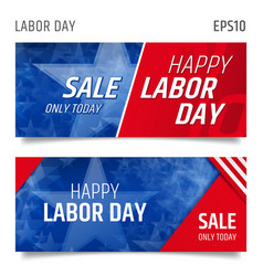 Labor day horizontal banners vector
