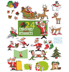 Large set of christmas character vector