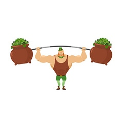 Leprechaun strongman powerful leprechaun athlete vector