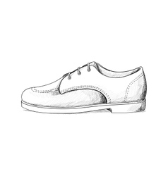 mans shoes vector image vector image