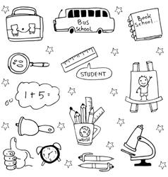 Object school doodles collection stock vector