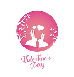 paper art of love and valentines day vector image