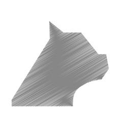 pet cat silhouette icon vector image
