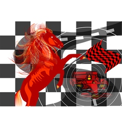 Race Abstract background vector image vector image