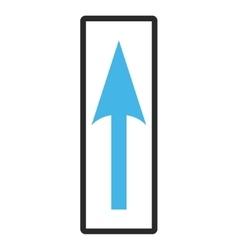 Sharp arrow up framed icon vector
