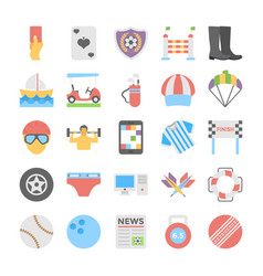 Sports and games flat colored icons 5 vector