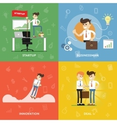 Start a new business with innovation vector image vector image