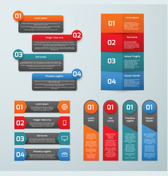 step by step options infographic templates vector image vector image