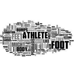 what does athletes foot look like text word cloud vector image vector image