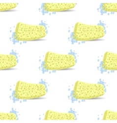 Sponge for bath soap bubbles seamless pattern vector