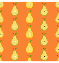 Pears in flat design vector