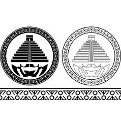 Stencils of mayan pyramids vector