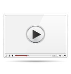 White video player vector