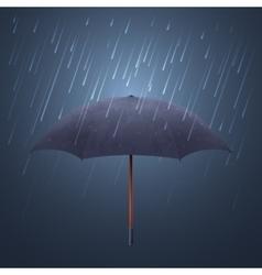 Blue umbrella and fall rain cool water storm vector