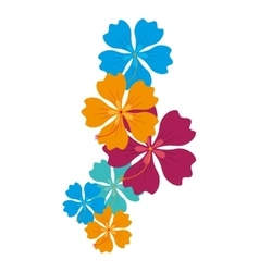 Hawaii floral decoration icon vector