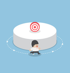businessman running around the target vector image