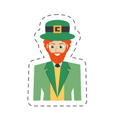 cartoon portrait leprechaun st patricks day vector image