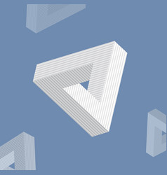 impossible triangle vector image