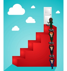 Business teamwork steps to success people vector image