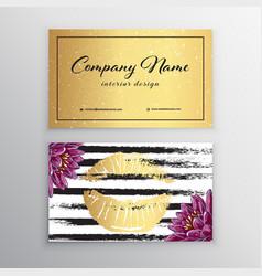 Makeup artist business card business cards vector