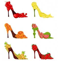 Fruit shoes vector