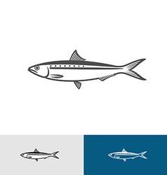 Sardine silhouette vector