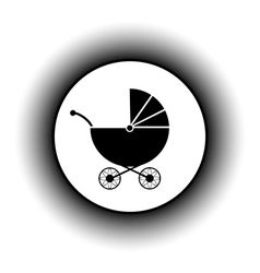 Pram button vector