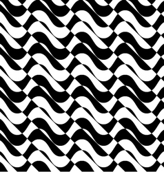 Black and white alternating waves with diagonal vector