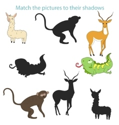 Match the pictures to their shadows child game vector