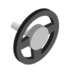 Steering wheel isometric 3d icon vector