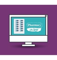 Pharmacy online design vector