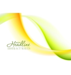 Abstract bright green yellow soft waves vector