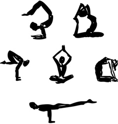 Advanced yoga poses vector