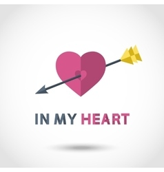 Arrow in the Heart vector image vector image