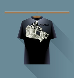 Black shirt with canada logo vector