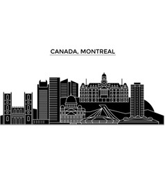 Canada montreal architecture city skyline vector