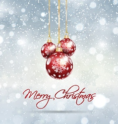 christmas bauble background 0812 vector image