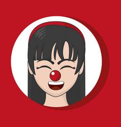 clown cartoon design vector image