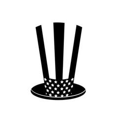 Contour usa hat to patritism celebration design vector