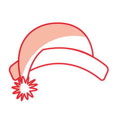 cute shadow christmas hat vector image