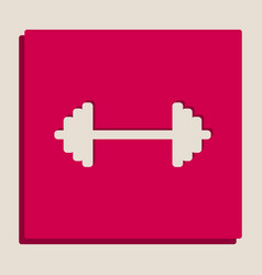 Dumbbell weights sign grayscale version vector