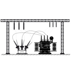 Electrical substation The high-voltage vector image vector image