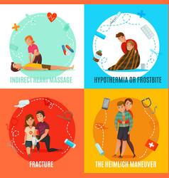 Emergency first aid people concept vector